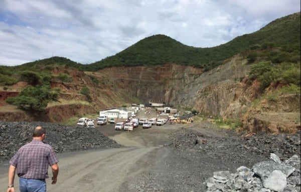 Illegal miners at Lily Mine