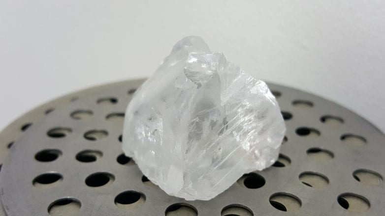 Recovery of a 121.26 carat White Diamond at Cullinan