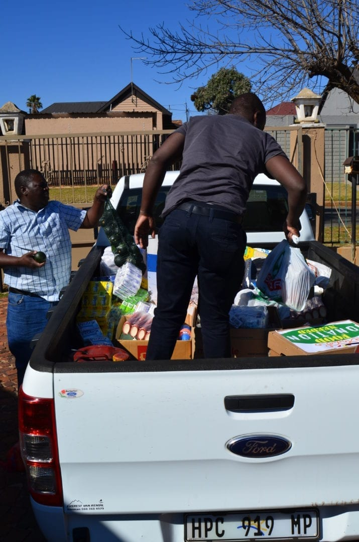 Food donations for Lily Mine employees