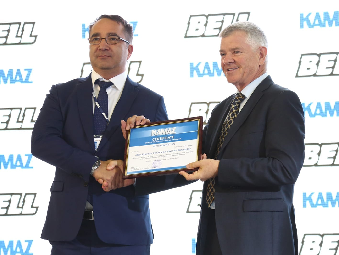 Bell brings KAMAZ Trucks to Southern Africa