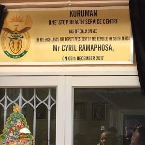 Northern Cape mining health centre 'an early Christmas gift'