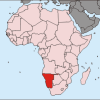 African map with Namibia highlighted