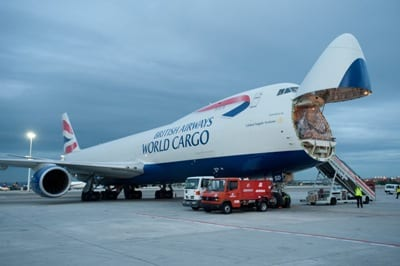 British Airways plane image