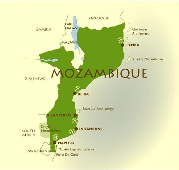 Mozambique map image