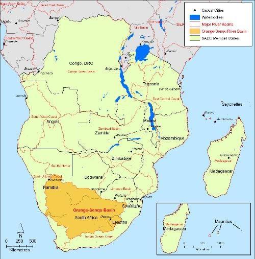 SADC map image