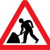 roadworks sign image