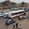 Transporte colectivo e individual rodoviario na Viana, em frente