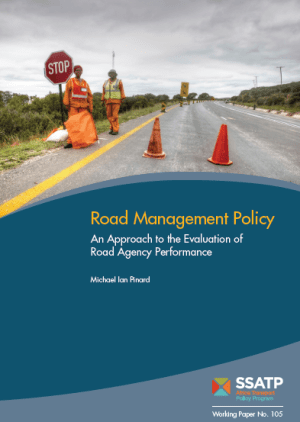 SSATP Road Management Policy