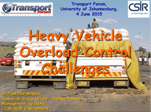 Heavy vehicle overload control