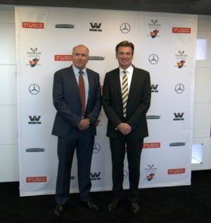Dr Wolfgang Bernard and Kobus van Zyl
