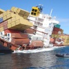 Container ship sinking