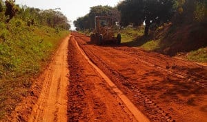 Mozambique gravel road