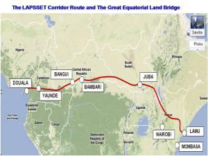 LAPSSET corridor map