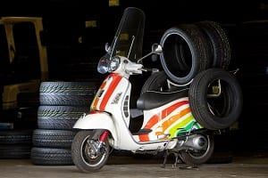 tyre delivery scooter